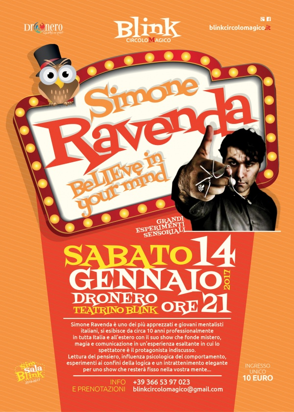 "Simone Ravenda ""beLIEve in your mind"""