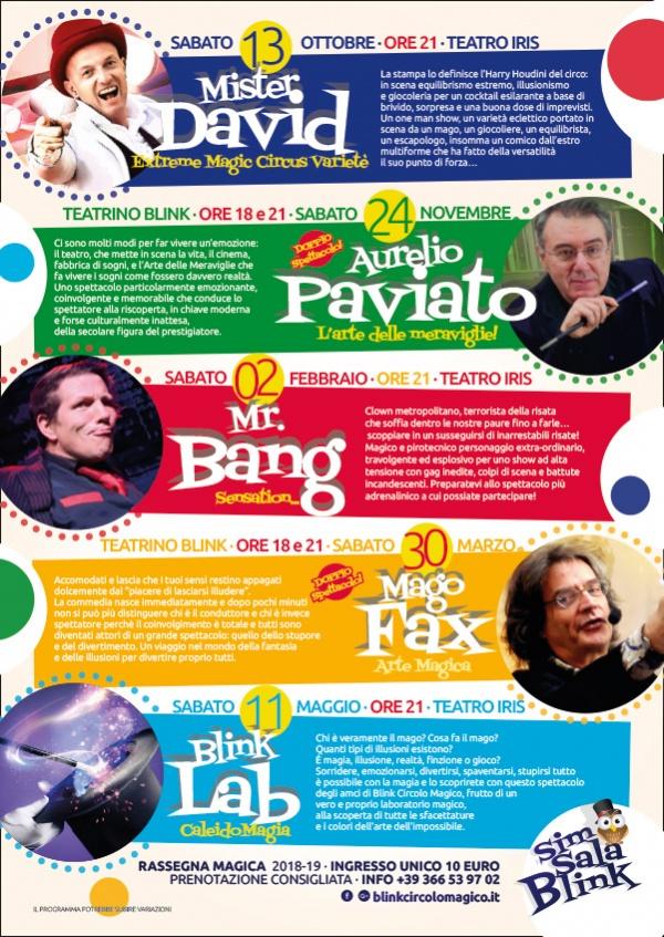 """Un nuovo anno di magia: Sim, sala, Blink, la """"Squola"""" di Magia e tante novità..."""